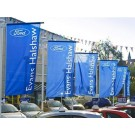 Commercial Flagpoles Forecourt Display