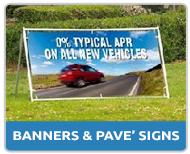 Forecourt Display Banners and Pavement Signs