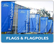 Forecourt Flags and Commercial Flagpoles