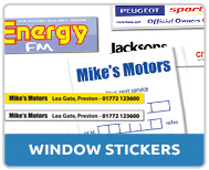 Car Window Stickers Windscreen Display