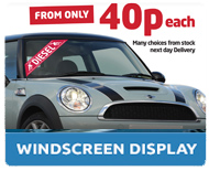 Windscreen Display Window Stickers