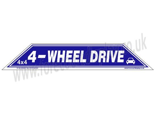 4 wheel drive windscreen display flash