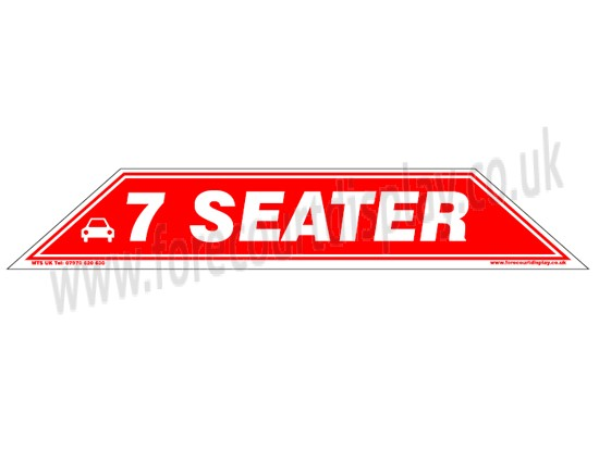 7 Seater Windscreen Display Flash Forecourt Signs