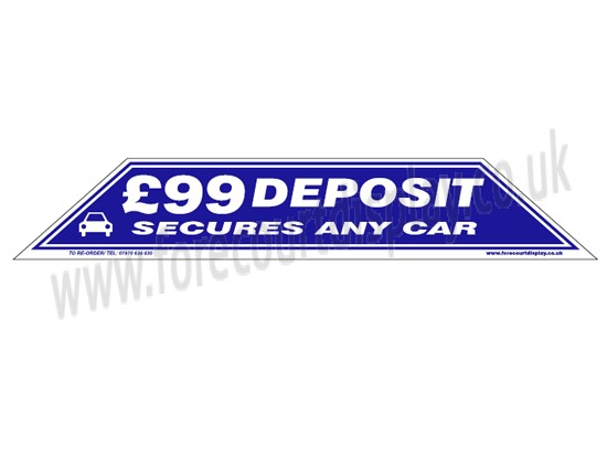 £99 Depositi Windscreen Display