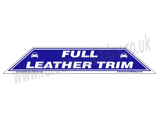 Full Leather Trim Windscreen Display Flash