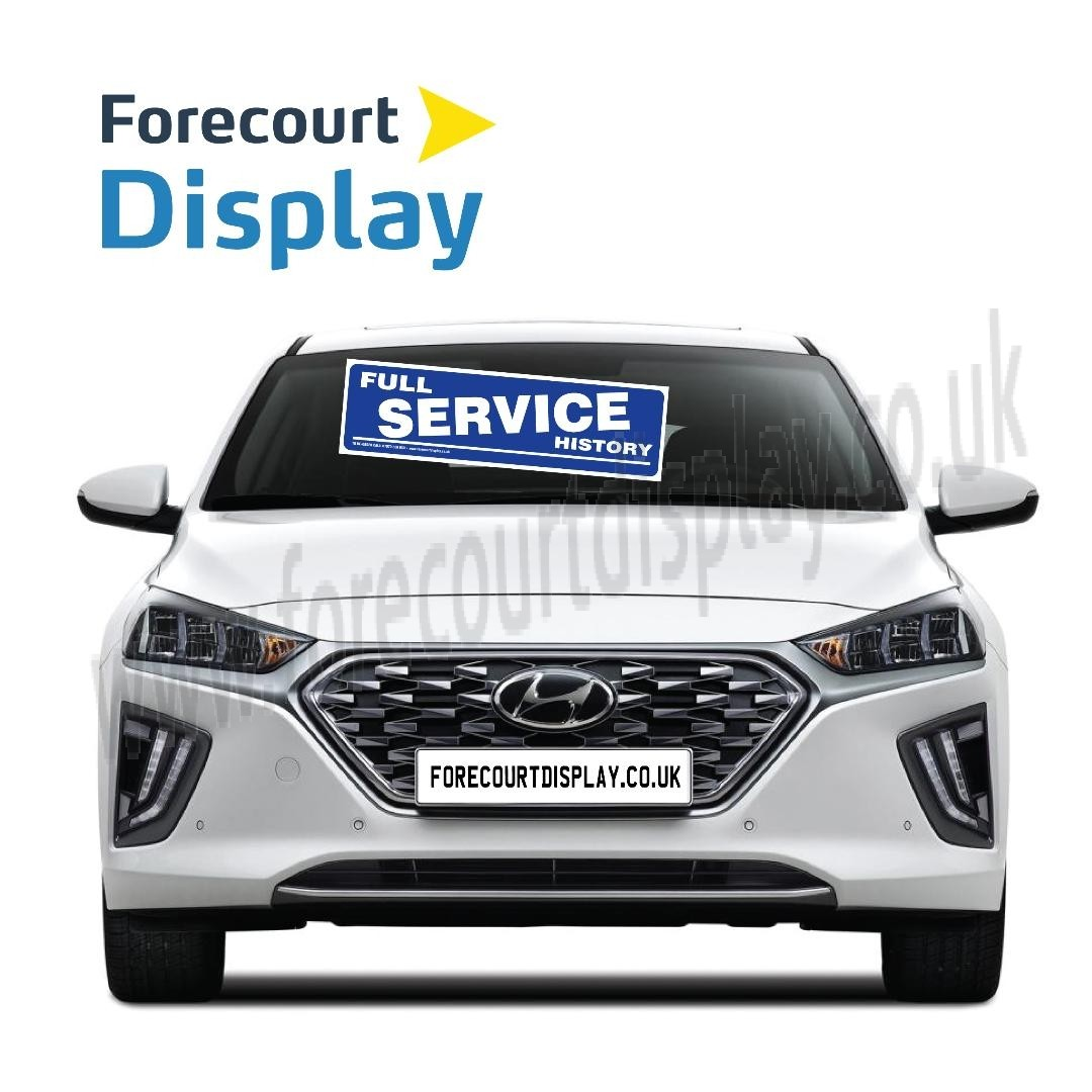 Service History Forecourt Windscreen Display