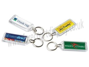 F1 Rectangular Keyrings