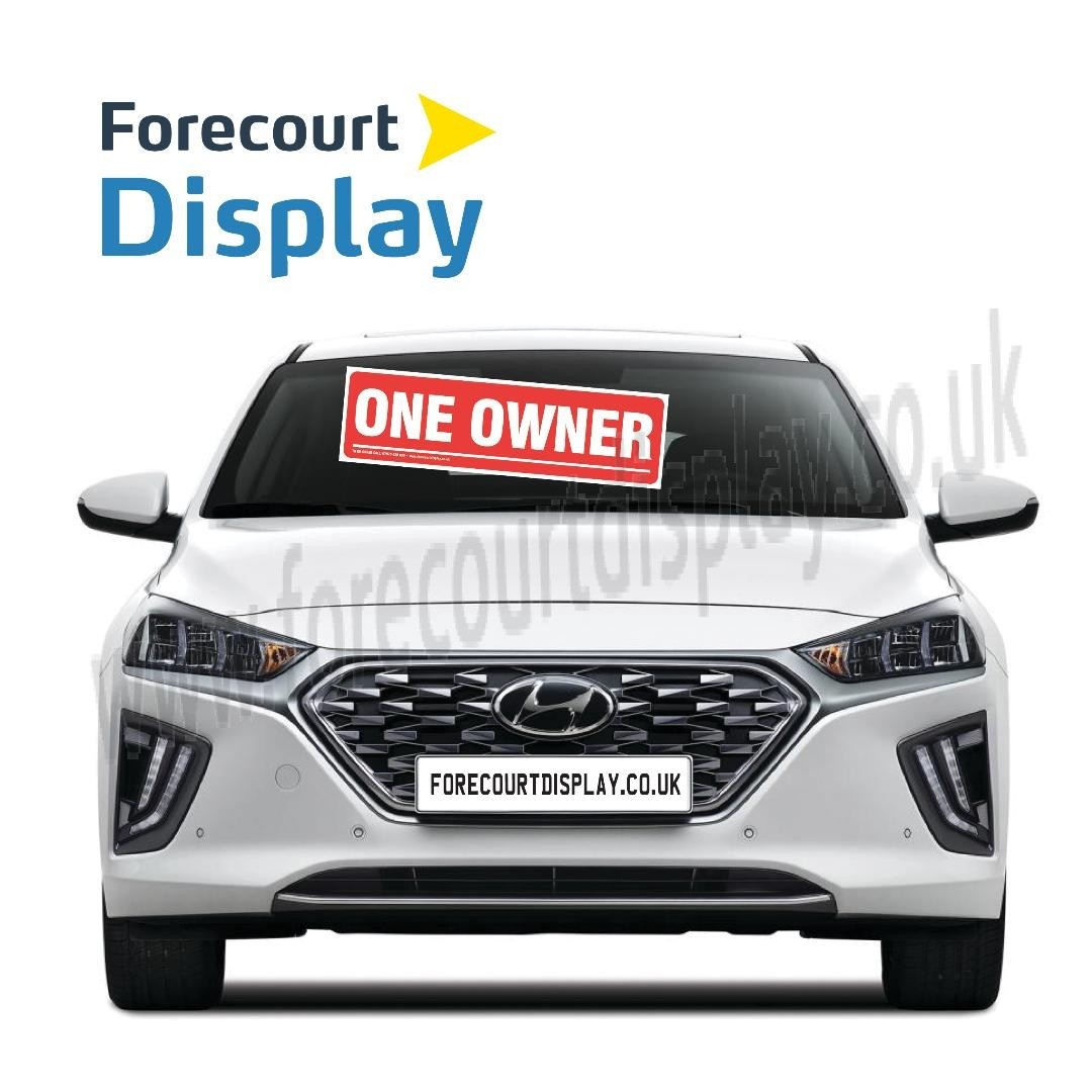 One Owner Forecourt Windscreen Display