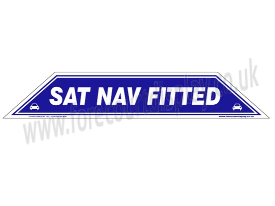 Sat Nav Fitted Windscreen Display