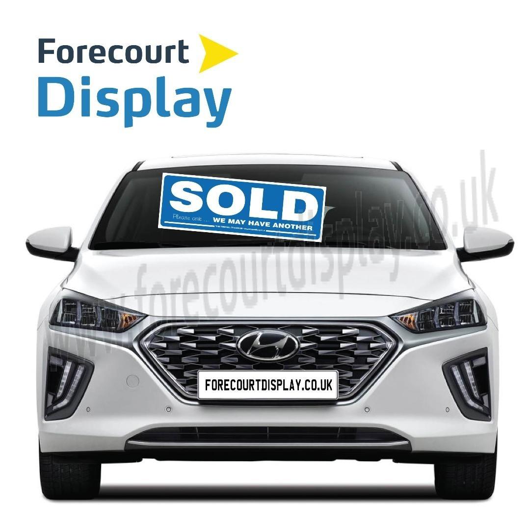 SOLD Car Windscreen Display Window Sticker