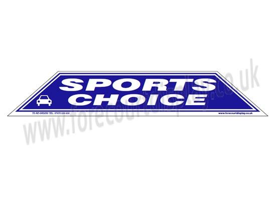 Sports Choice Windscreen Display