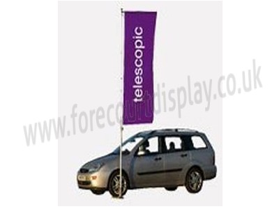Telescopic commercial forecourt flagpole