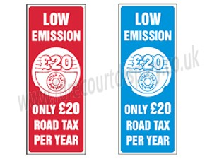 Low emission Car Window Stickers