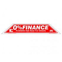 0% Finance Windscreen Display Flash
