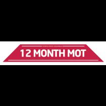 12 Month MOT Windscreen Display 575mm x 100mm