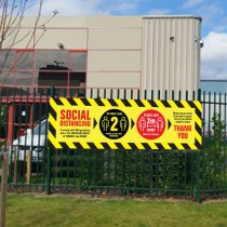 Social Distancing Safety Banner