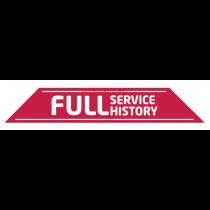 Full Service History Windscreen Display 575mm x 100mm