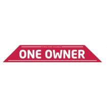 """One Owner"" Windscreen Display 575mm x 100mm"