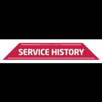 Service History Windscreen Display 575mm x 100mm