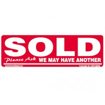 SOLD Car Windscreen Display Window Sticker