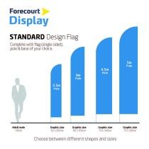 Forecourt Windsale Flags - 3.5m 62cm x 260cm - Standard