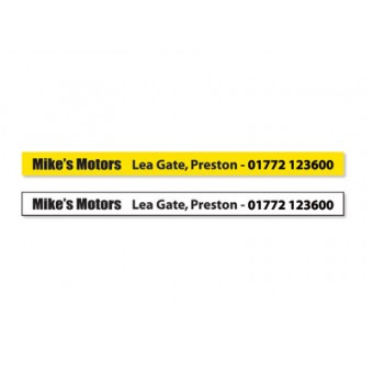 Number Plate Stickers
