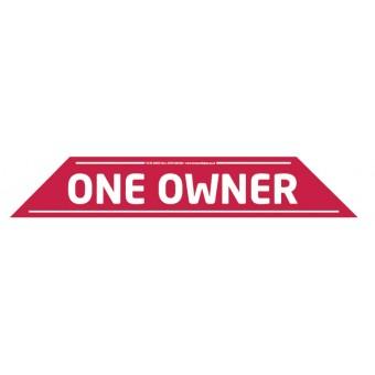 """One Owner"" Windscreen Display 575mm x 100mm"