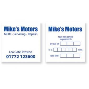 Service Reminder Car Window Stickers