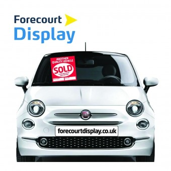 Sold Windscreen Display Sticker